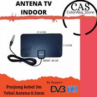 Antena TV Indoor Digital Tempel dinding DVBT2 || Tanpa Booster