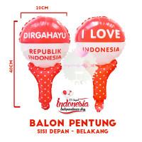 Balon Foil Pentungan Merah Putih DIRGAHAYU HUT RI 17 AGUSTUS Indonesia