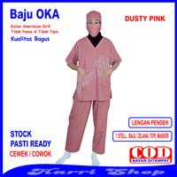 Baju OKA, Baju OKA / Baju Perawat, Pria Wanita Lengan Pendek