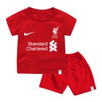 Setelan Baju Kaos Jersey Bola Eropa Untuk Anak dan Bayi Bahan Katun