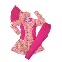 Baju Renang anak usia 3 sampai 6 tahun model muslim bermotif anak cewe
