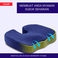 Bantal Duduk Alas Kursi Memory Foam Bantal Ambien Wasir