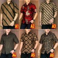 Hem batik pria - baju batik lengan pendek murah