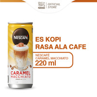 NESCAFE Kopi Minuman Kaleng Caramel Macchiato 220ml