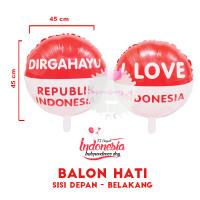 Balon Foil Bulat Merah Putih DIRGAHAYU HUT RI 17 AGUSTUS Indonesia