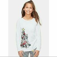 Kaos anak perempuan merk Justice sisa ekspor (putihN) - Putih, 8 tahun