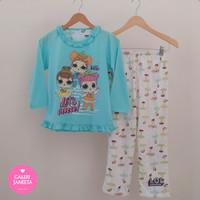 Baju Tidur Anak Perempuan / Cewek / Piyama Anak Motif LOL Size 8-10-12
