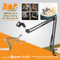 MS37 Microphone Stand Clip Arm Mic di Meja for Podcast / Recording