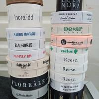 Label baju / label hijab / label jaket / label tas murah cepat