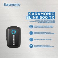 BLINK 500 TX WIRELESS CLIP-ON TRANSMITTER WITH BUILT-IN MICROPHONE