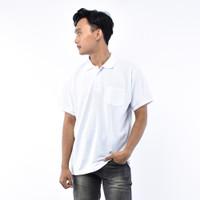 SEYES T3025 Tumblr Tee Polo shirt Pria Atasan Kaos Pria Putih