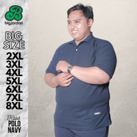 kaos polo shirt big size xxxxxl xxxxl xxxl xxl baju kerah jumbo import