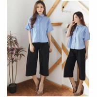 Baju Wanita Atasan Kemeja Basic Denim Janice Shirt