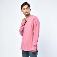 SEYES T3004 Tumblr Polo shirt Pria Atasan Kaos Pria Warna Pink