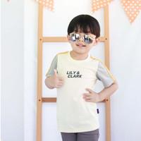 Lily And Clark Baju Anak Lak-Laki Warna Cream Salur Abu KLC30 - S