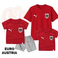 Setelan Baju Kaos Sepak Bola Euro Timnas Austria Bayi Sampai Remaja