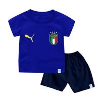 Setelan Baju Bola Jersey Bayi & Anak Edisi Euro Bahan Katun Combed 30s - Italia, Bayi 18-24 Bula