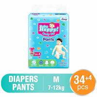 pampers baby happy M 34+4 38 34 + 4 popok bayi celana ukuran m
