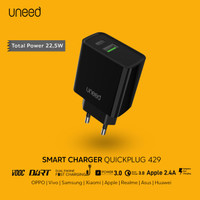 UNEED Charger VOOC QC PD 3.0 AFC Dual Engine Dart Charge - UCH429