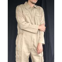 jumpsuit overall wearpack polos mens pria baju montir thrift khaki