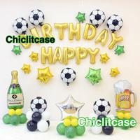 set paket balon ulang tahun sport sepak bola soccer dekorasi pesta