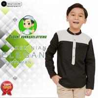 PROMO Baju Koko Anak Trendy Lengan Panjang Nyaman Dan Elegan - Hitam, 13