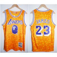 JERSEY NBA BAPE X LAKERS #23 JAMES KUNING 18-19