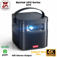 Byintek U70 Android Mini LED 4K Proyektor Portable Wifi and Support 3D