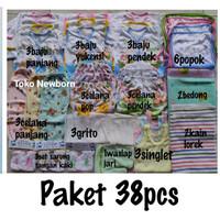 Hemat(38pcs) Paket perlengkapan Baju Bayi NEWBORN(baru lahir)