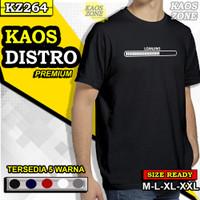 Kaos T Shirt Baju Kata Loanjing Distro Keren Pria Cowok Cowo KZ264 - Hitam, XL