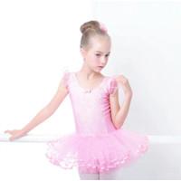 Baju Lace Tutu Ballet Dress anak model lengan kembang cantik import - Baby Pink, XL