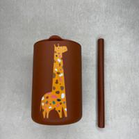 Gelas + Sedotan Silikon Anak   Baby Silicone Straw + Cup