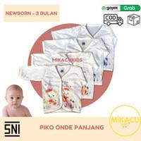 1LUSIN Baju Bayi Lengan Panjang Piko Motif, Onde (SNI) Newborn-3 Bulan