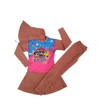 Baju renang anak usia 7-9 tahun kerudung gambar karakter