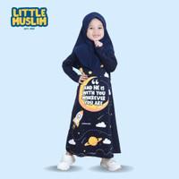 Gamis Anak Muslim Set Hijab - Baju perempuan kekinian Little Muslim