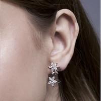 Petalia - Anting Studs Perak 925 Silver 18k Gold Plated Earring