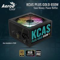 AEROCOOL RGB KCAS 650W 80 PLUS GOLD PSU