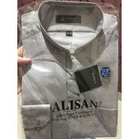 Baju Koko Alisan Putih Panjang size 14,5 (M) - 16 (XL)