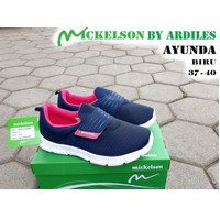 Sepatu Sneakers Wanita Ardiles AYUNDA Biru 37-40 Model Slip On Terbaru