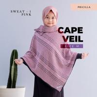 Cape Veil Sweater Outer Rajut Ponco Jaket Baju Hangat Anak Perempuan