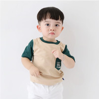 Lily And Clark Baju Anak Lak-Laki Warna Cream Salur Hijau KLC26 - XS