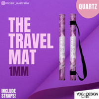 YOGA DESIGN LAB Combo Yoga Mat 1mm / FREE STRAP / TRAVEL MAT VERSION - QUARTZ