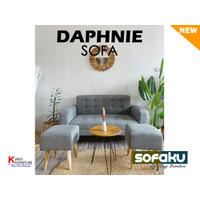DAPHNIE Sofaku Set Stool - Sofa Minimalis Bahan Kanvas Modern Sofa