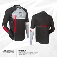 Jersey Sepeda MTB DH XC AM Merk HAGE VIRTUEZA black red