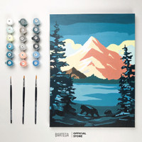 Bartega Paint by Number Kit: Brother Bear