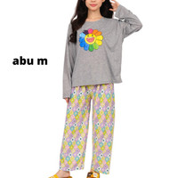 NIDA Size L XXL Setelan Baju Celana Panjang WanitaRumah Kasual Piyama