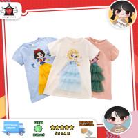 Tshirt princess gaun 3D anak, Baju frozen snowwhite mermaid lucu anak