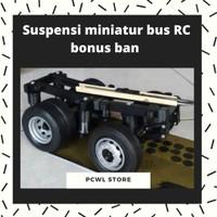 Suspensi miniatur bus RC bonus ban 1 set