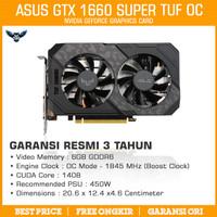 ASUS TUF GTX 1660 SUPER OC GAMING 2 FAN 6GB DDR6 VGA CARD NVIDIA