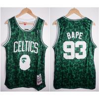JERSEY BASKET NBA BAPE x CELTICS #93 BAPE HIJAU SPECIAL EDITION (1)